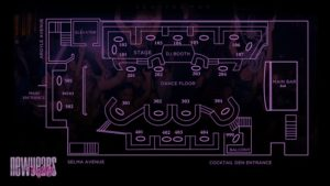 Argyle LA Nightclub Floor Plan