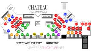 Chateau NYE VIP Rooftop Table Floor Plan
