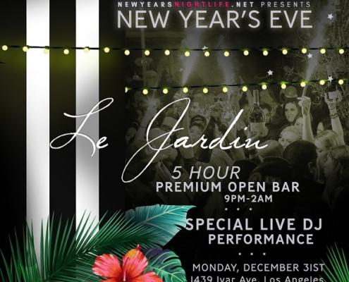 Le Jardin LA New Years Party