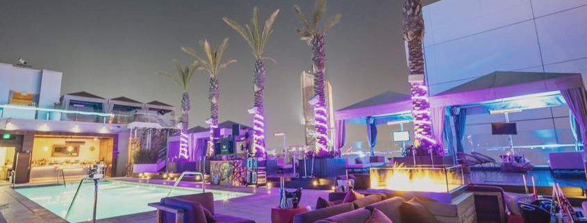 W Hollywood Rooftop VIP areas