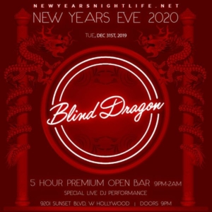 Blind Dragon NYE New Years Event 2020