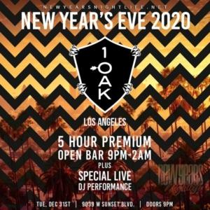 1 OAK LA New Years Event 2020