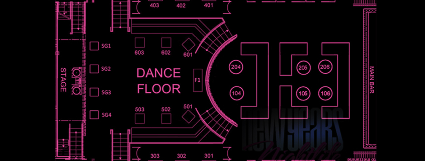 Playhouse Nightclub Table Seating Chart