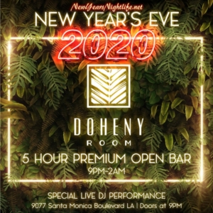 Doheny Room NYE | 2020 New Years