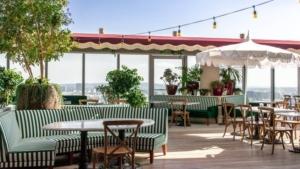 Harriets Rooftop patio tables